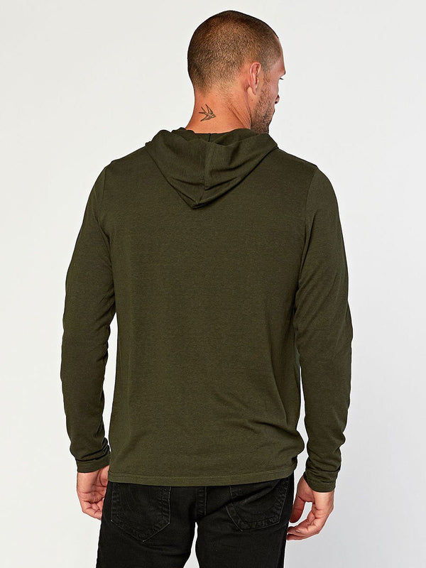 Long Sleeve Triblend Hoodie Mens Tops Threads 4 Thought