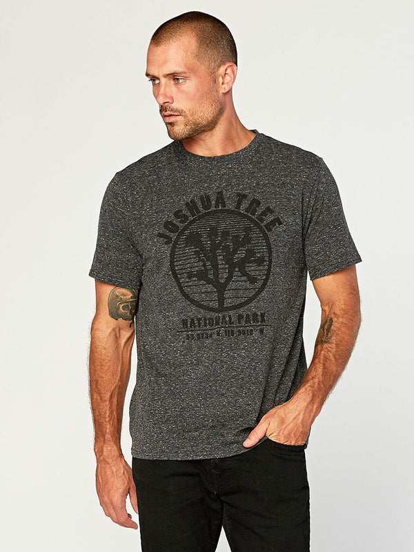 Joshua Tree Graphic Tee Mens Tops Threads 4 Thought S Heather Black