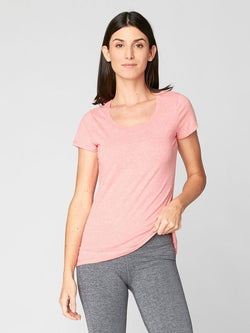 Sasha Scoop Neck Womens Tops Threads 4 Thought XS Coral Haze