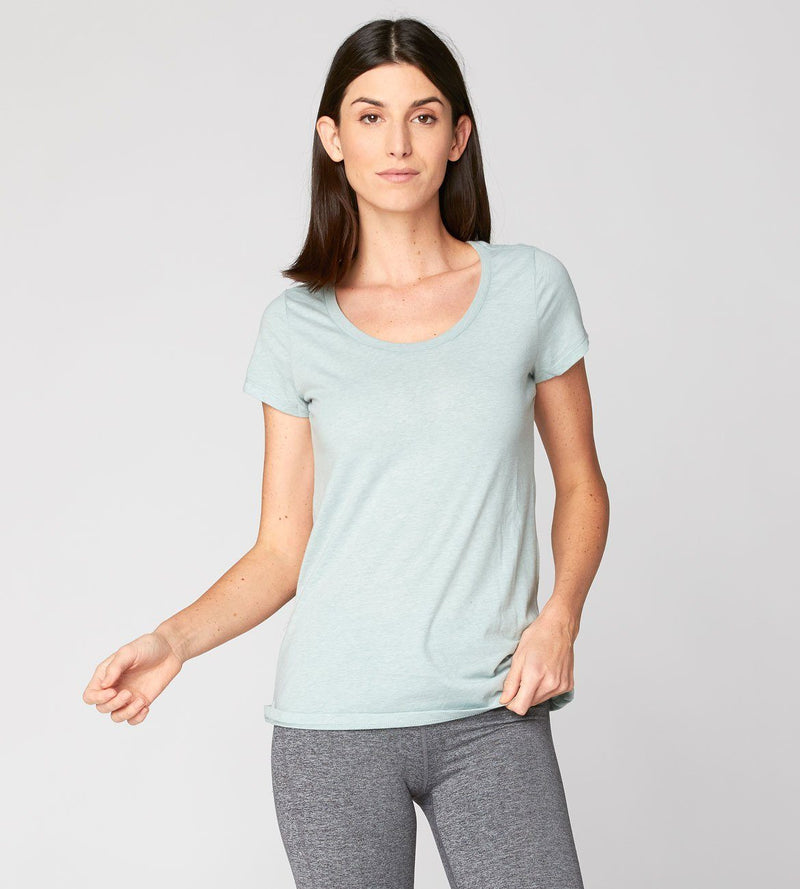 Sasha Scoop Neck Womens Tops Threads 4 Thought xs Light Canteen