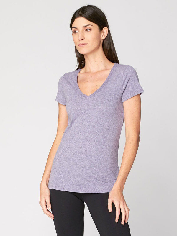 Veronica V Neck Womens Tops Threads 4 Thought XS Lark