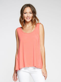 Jayla Tank Womens Tops Tank Threads 4 Thought xs Tandori Coral
