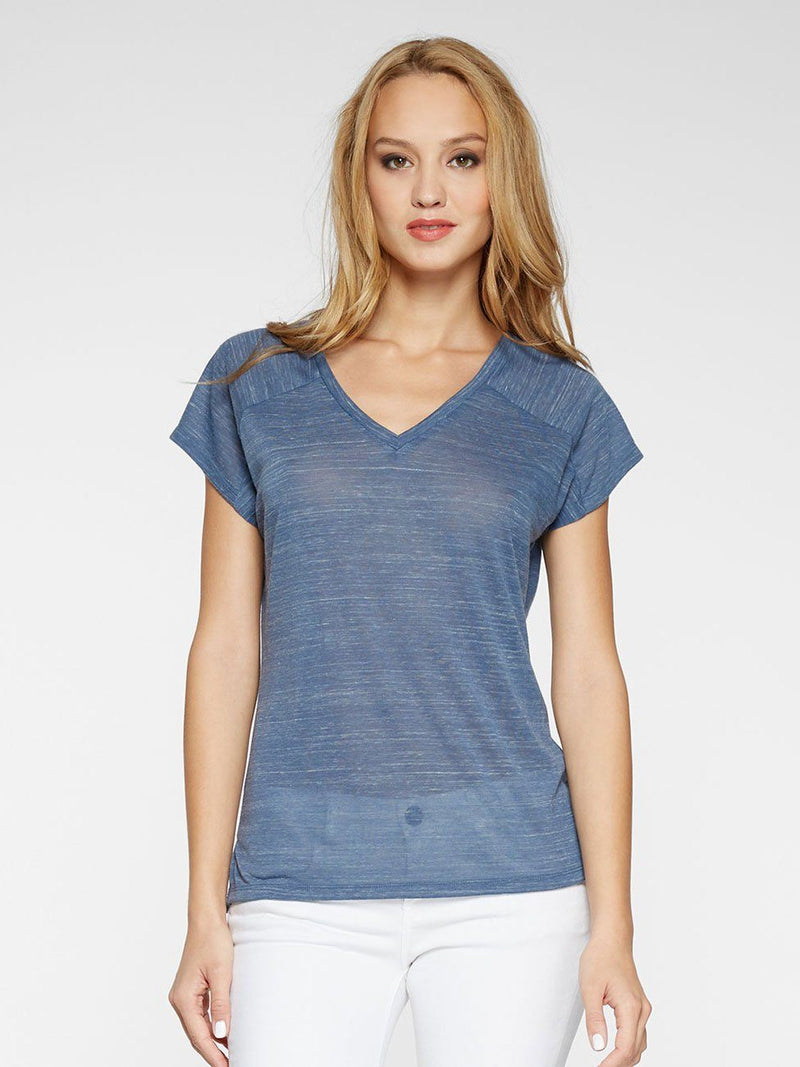 Cera Tee Womens Tops Threads 4 Thought XS BLUE STEEL