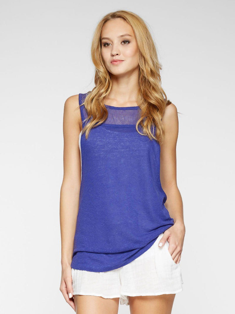 Roan Tank Womens Tops Threads 4 Thought XS BALI BLUE