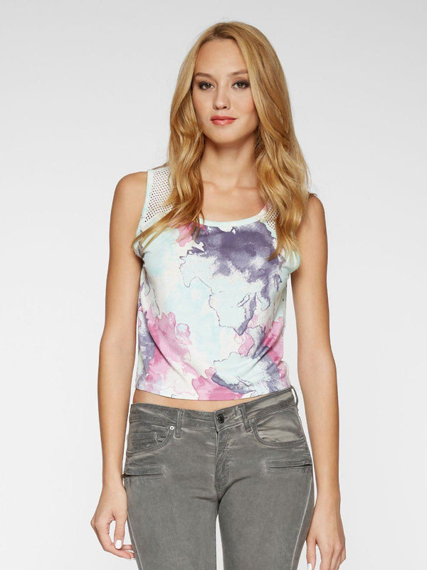 Shelby Crop Top Womens Tops Threads 4 Thought XS MADRAS BLOOMS