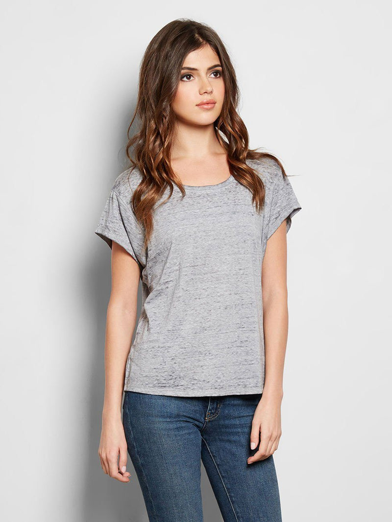 Leala Tee Womens Tops Tee Threads 4 Thought xs Heather Steel