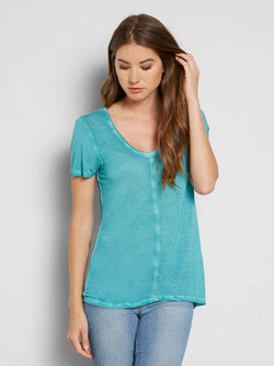 Zoya Tee Womens Tops Threads 4 Thought XS BALTIC BLUE
