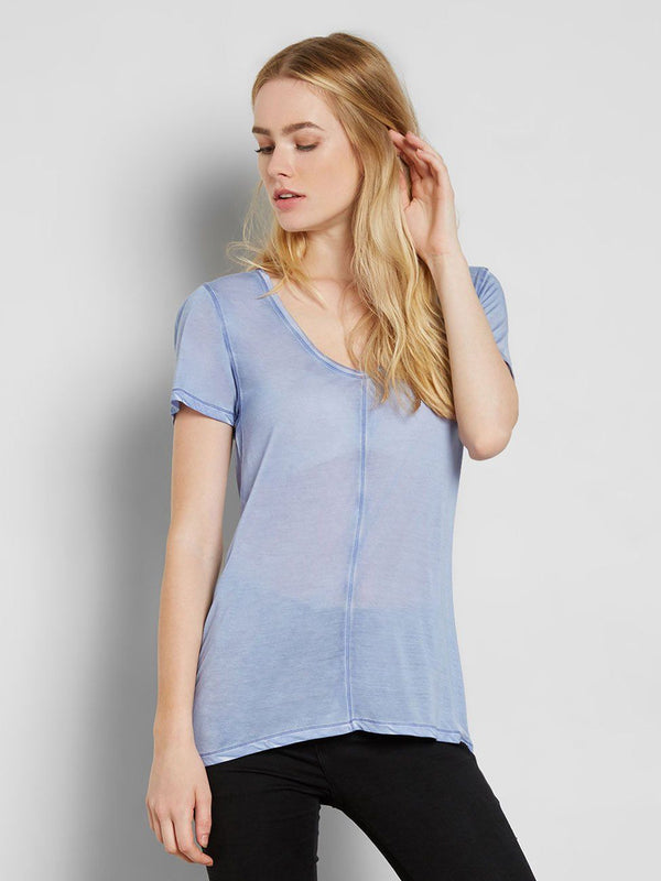 Zoya Tee Womens Tops Tee Threads 4 Thought XS Periwinkle
