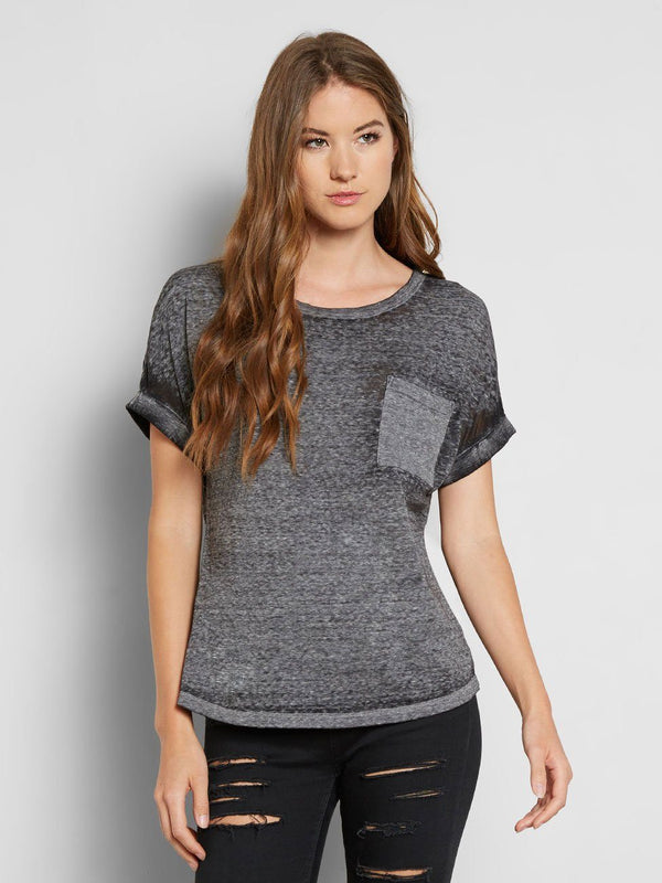 Tamara Tee Womens Tops Tee Threads 4 Thought XS Charcoal