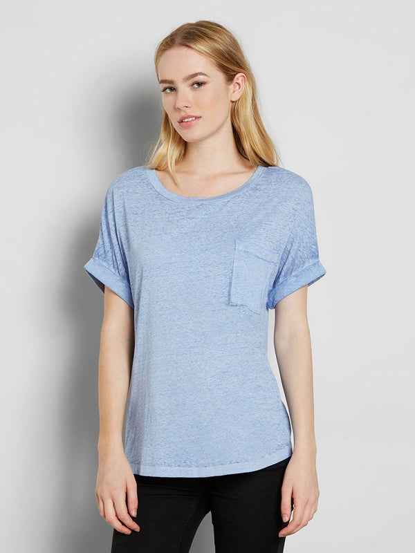 Tamara Tee Womens Tops Tee Threads 4 Thought XS Periwinkle