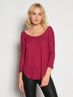 Emelle Poncho Top Womens Tops Top Threads 4 Thought xs Garnet