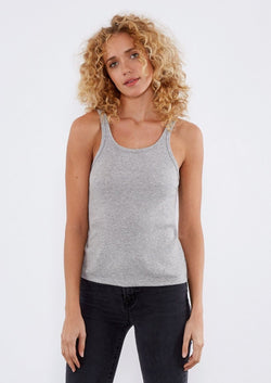 RIVA TANK Womens Tops Threads 4 Thought xs Heather Steel