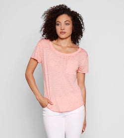Ezra Tee Womens Tops Threads 4 Thought xs Coral Haze