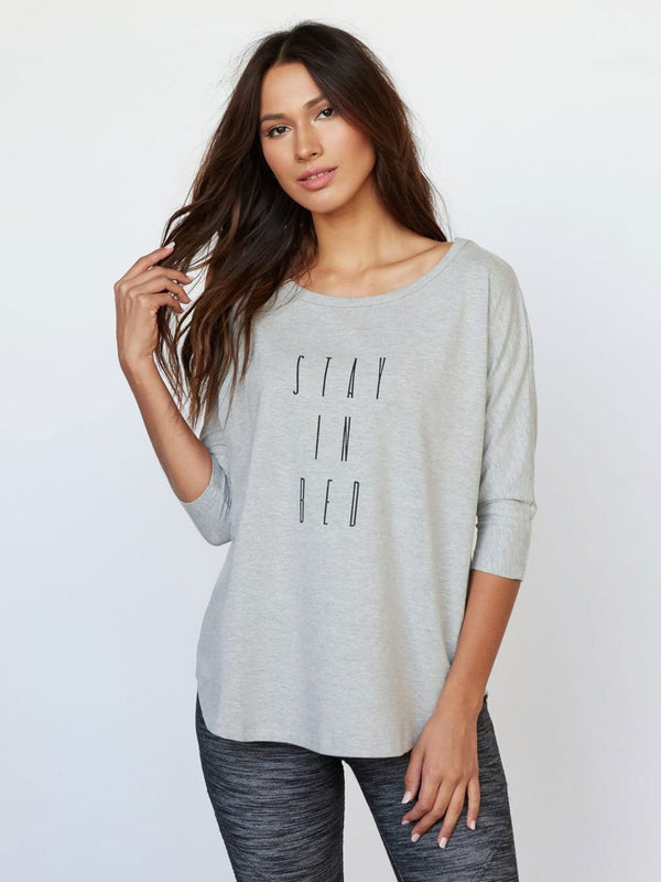 Lola Tee Womens Tops Tee Threads 4 Thought XS Heather Grey