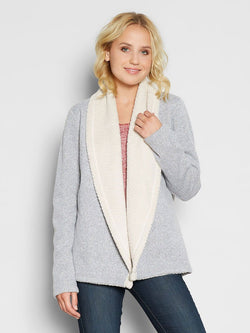Belinda Cardigan Womens Outerwear Cardigans Threads 4 Thought xs-s Heather Steel