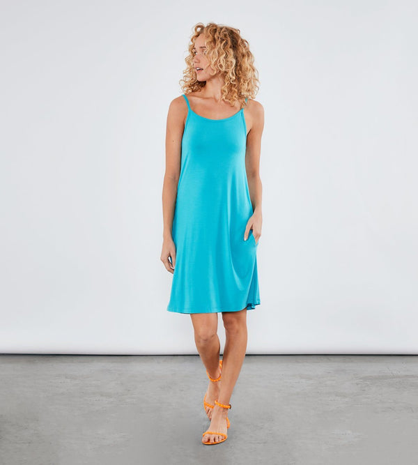 Xabrina Dress Womens Dresses Threads 4 Thought xs Caribbean Blue