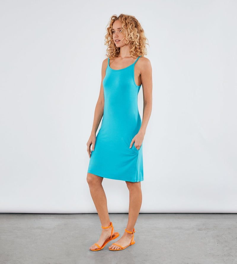 Caribbean Blue Xabrina Dress