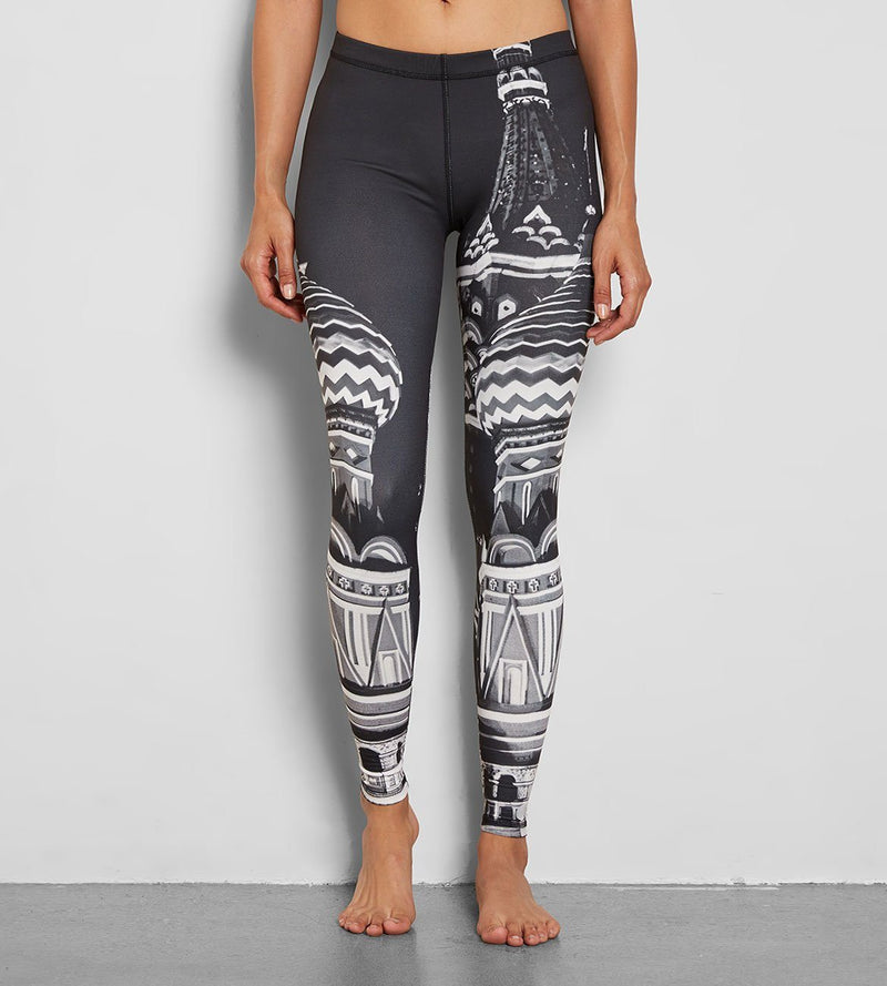 Black White Kona Legging