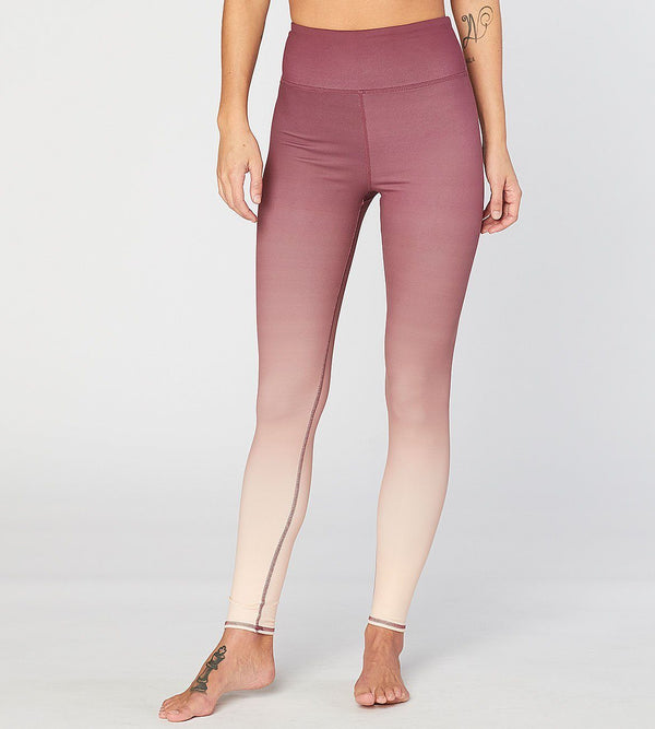 Betty Hi Waisted Leggings Womens Bottoms Pants Threads 4 Thought xs Desert Mauve Ombre