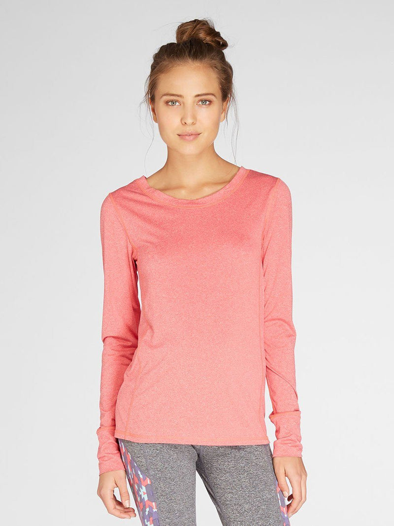 Zabrina Long Sleeve Tee Womens Tops Tee Threads 4 Thought xs Heather Calypso Coral