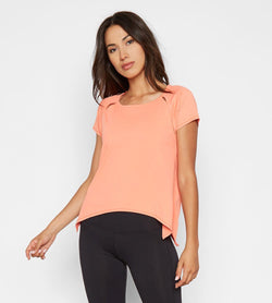 Eunice Tee Womens Tops Threads 4 Thought xs Fusion Coral