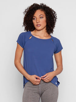 Eunice Tee Womens Tops Tee Threads 4 Thought XS Indigo