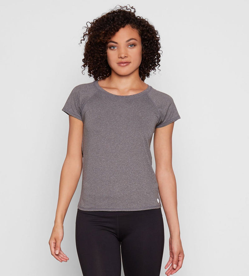 JULIA TEE Womens Tops Threads 4 Thought xs Heather Charcoal