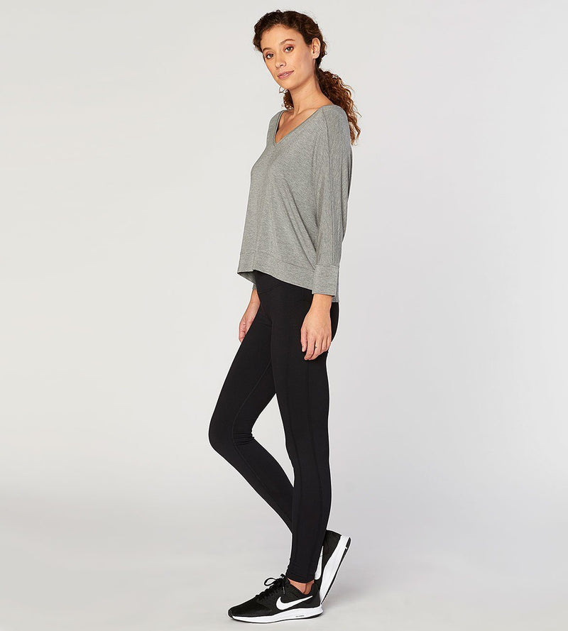 Heather Grey Shelbee Top