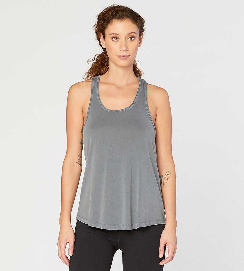 Namaste Tank Womens Tops Threads 4 Thought xs Slate