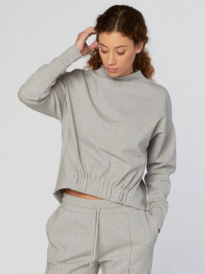 Dara Pullover Womens Outerwear Sweatshirt Threads 4 Thought XS Heather Grey