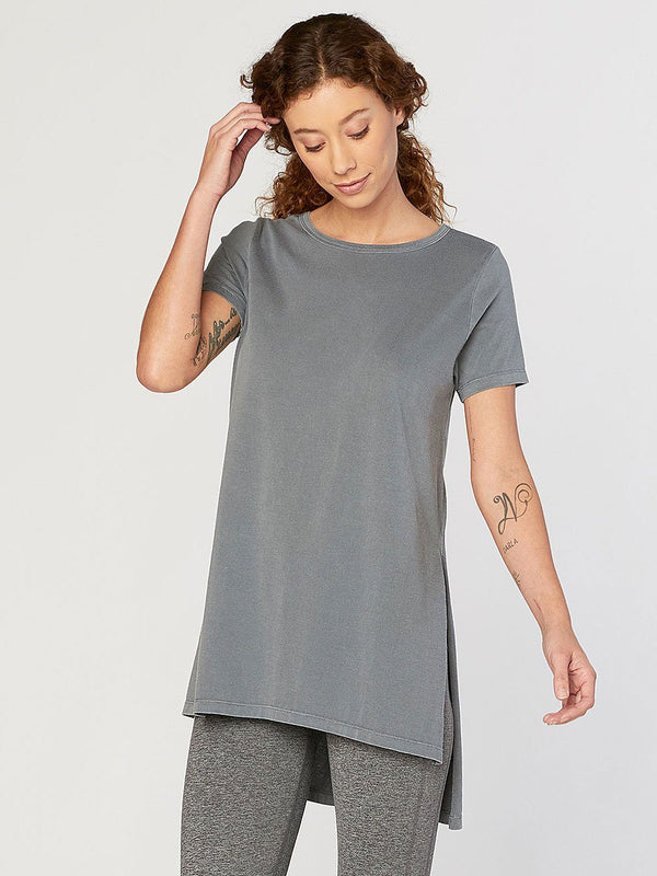 Brogan Tee Womens Tops Threads 4 Thought XS Slate