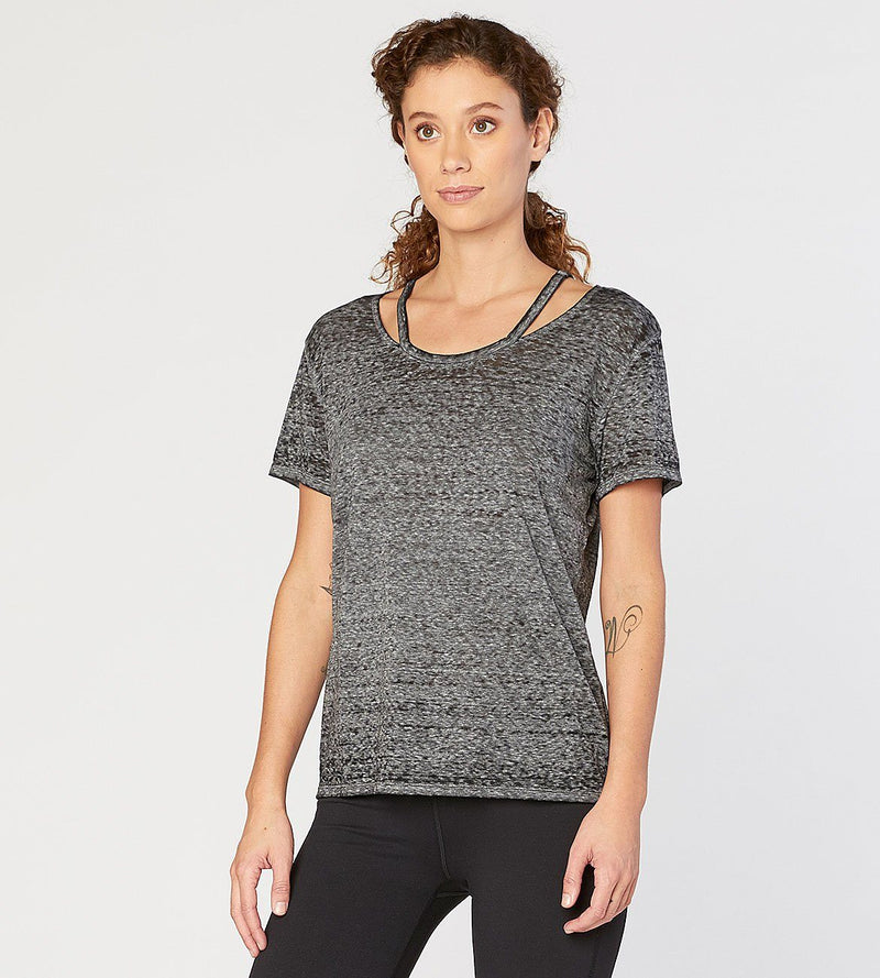 Max Tee / SS Cut Out Knit Top Womens Tops Threads 4 Thought