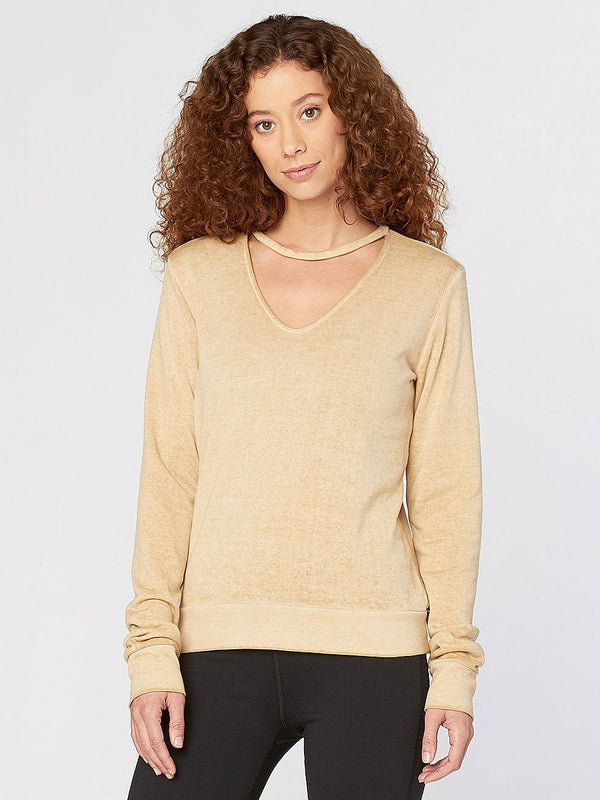 Cami Pullover Womens Outerwear Sweatshirt Threads 4 Thought XS Sandy Beige