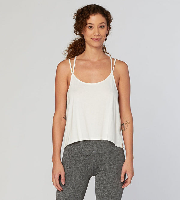 Aura Tank Womens Tops Threads 4 Thought xs White