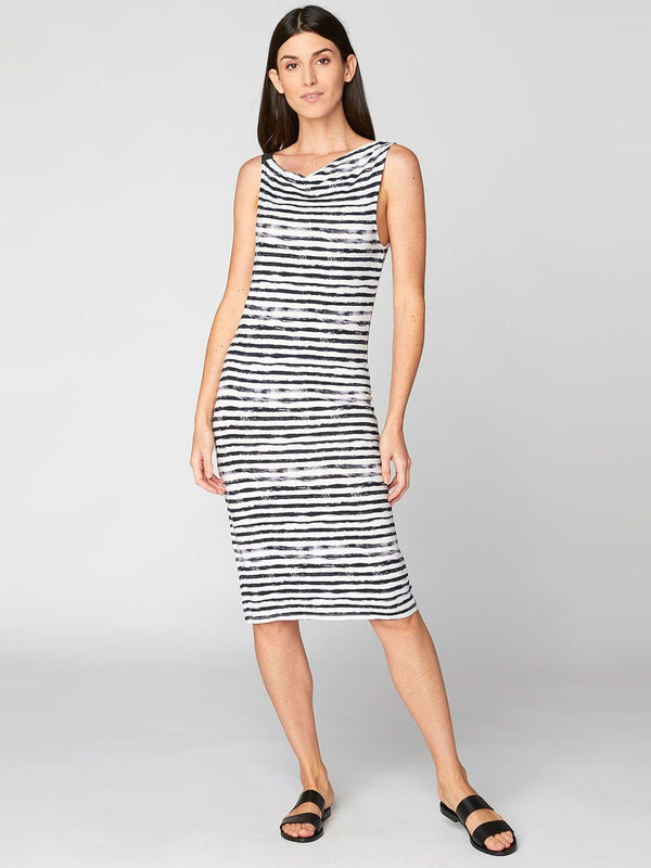 Lara Dress Womens Dresses Threads 4 Thought XS Ink Stripe