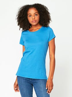 Sasha Scoop Neck Womens Tops Threads 4 Thought XS Ceramic Blue