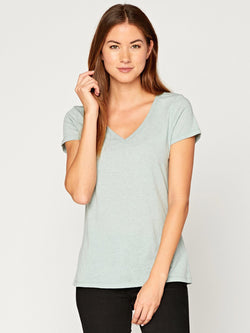 Veronica V Neck Womens Tops Threads 4 Thought XS Sage
