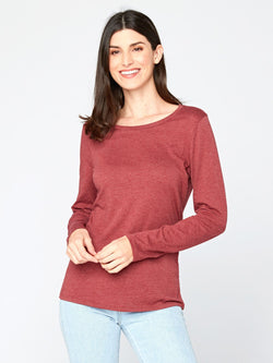 Sydney Scoop Neck Womens Tops Threads 4 Thought XS Scarlet