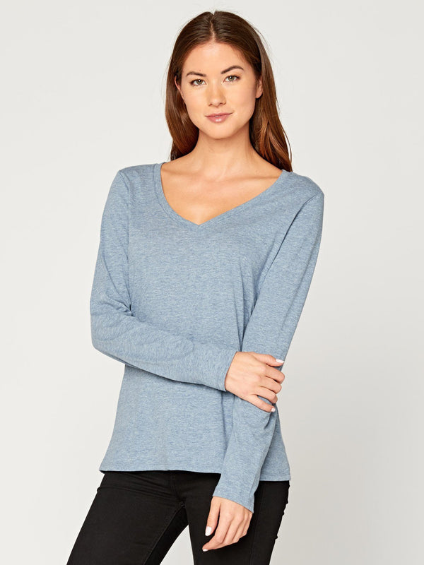 Vanessa V Neck Womens Tops Threads 4 Thought