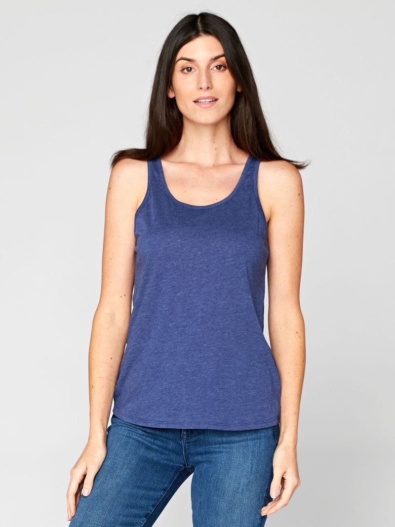 Theadora Tank Womens Tops Threads 4 Thought XS Navy