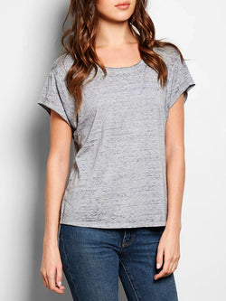 Leala Tee Womens Tops Threads 4 Thought XS Heather Steel