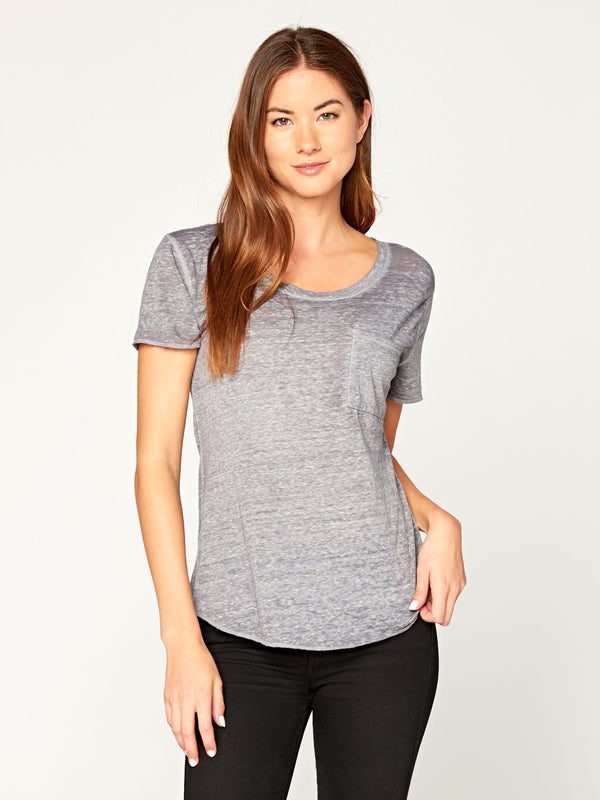 Ezra Tee Womens Tops Threads 4 Thought XS Heather Steel