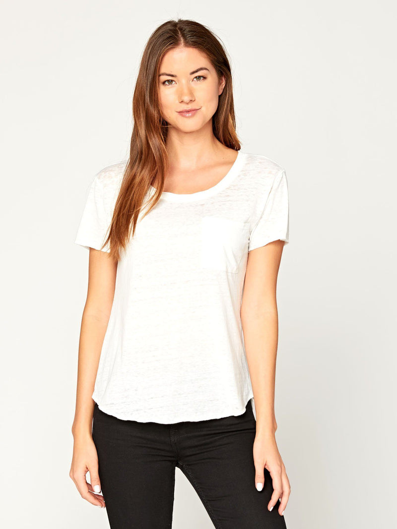 Ezra Tee Womens Tops Threads 4 Thought XS WHITE