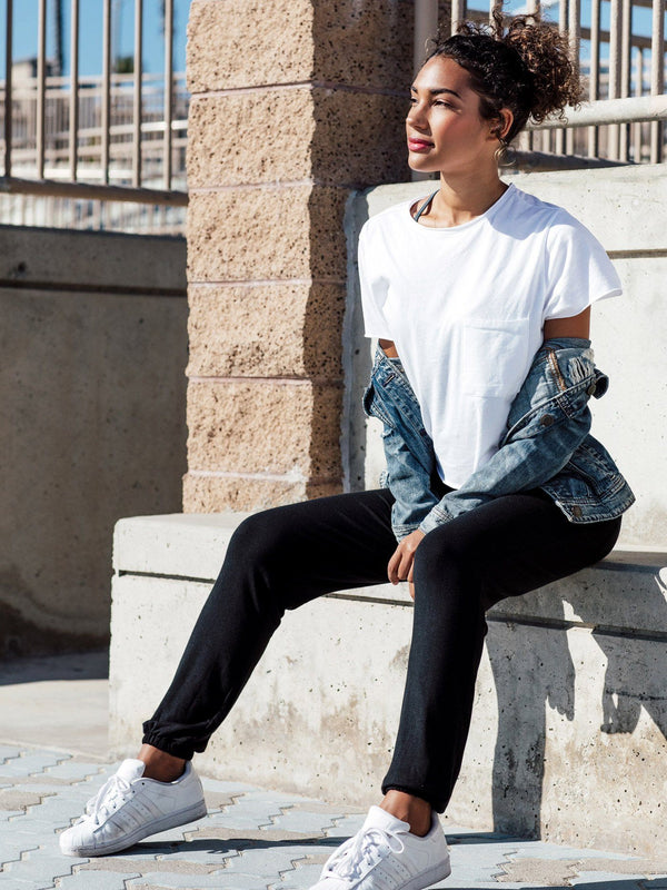 Ani Drawstring Jogger Womens Bottoms Pants Threads 4 Thought XS BLACK