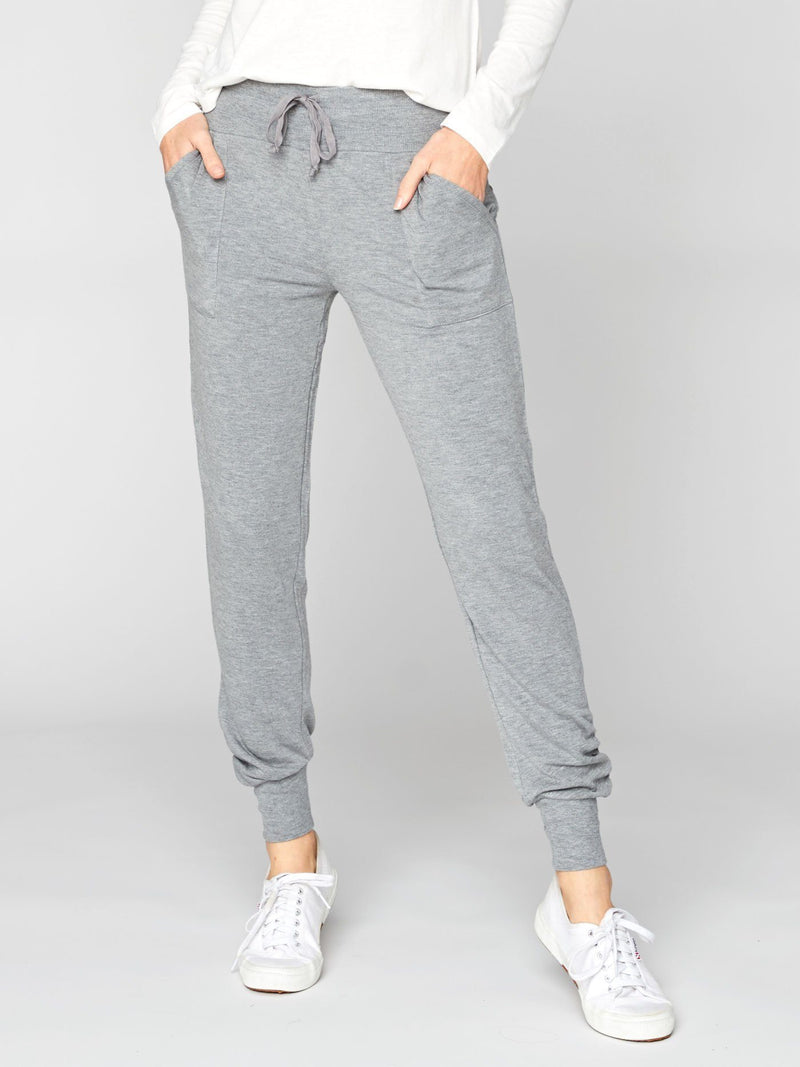 Harper Jogger Womens Bottoms Leggings Threads 4 Thought XS Heather Grey