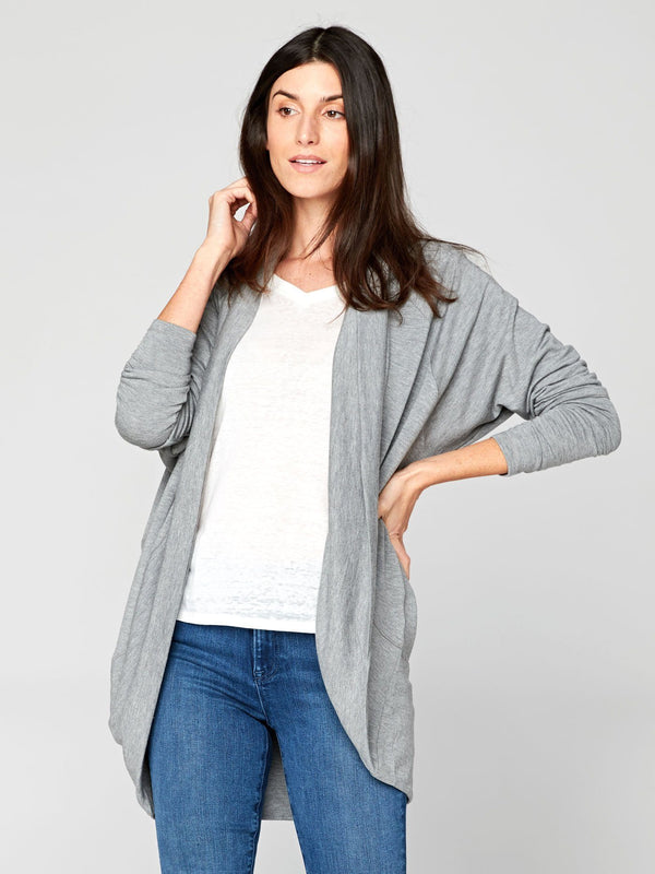 Sienna Feather Fleece Cardi Womens Outerwear Cardigans Threads 4 Thought