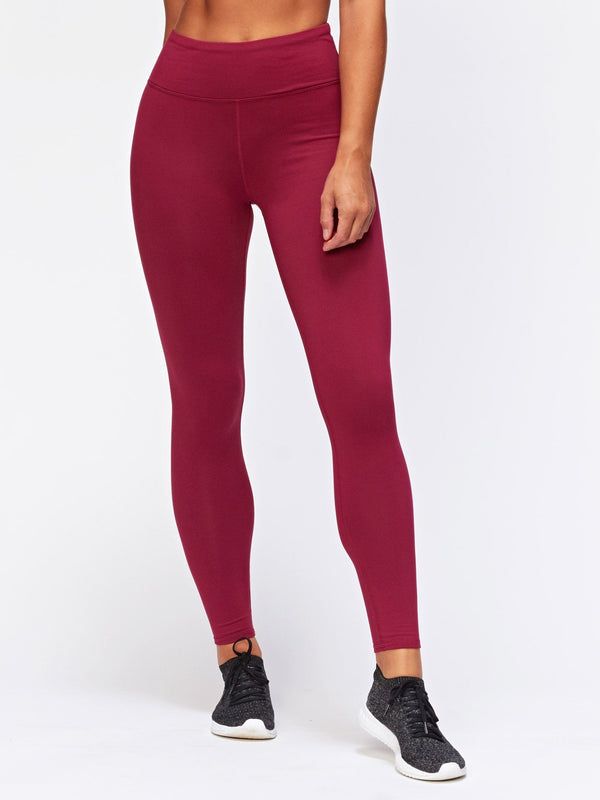Betty Hi-Waisted Legging Womens Bottoms Pants Threads 4 Thought XS Aubergine
