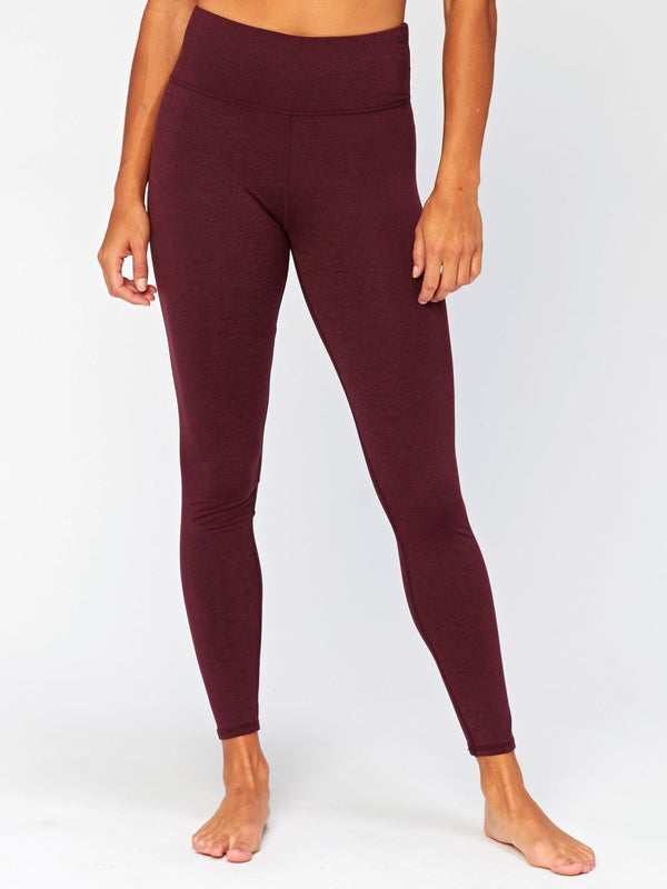 Betty High Rise Legging Womens Bottoms Pants Threads 4 Thought XS Heather Royal Burgundy