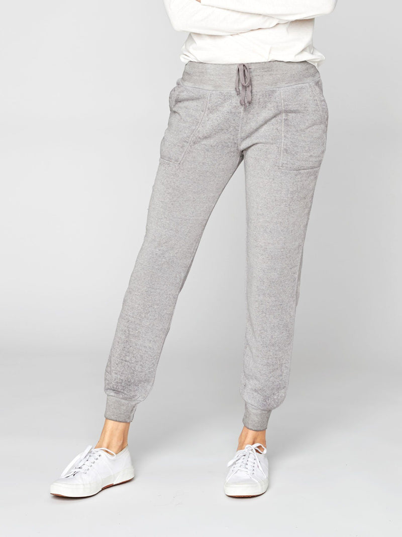 Phoebe Burnout Wash Sweatpant Womens Bottoms Pants Threads 4 Thought XS Heather Steel
