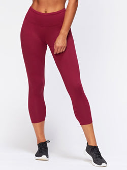 Monica Crop Legging Womens Bottoms Leggings Threads 4 Thought XS Aubergine